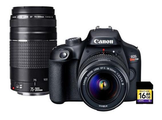 Camara Fotografica Canon Rebel T100 18-55 Kit Premium Dciii
