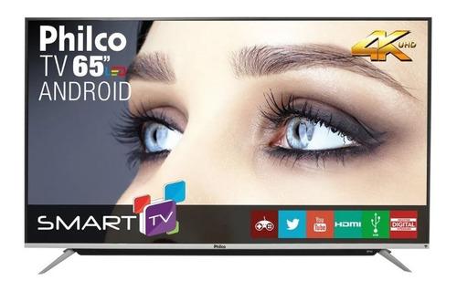 Imagem 1 de 3 de Smart Tv 65'' Led 4k Uhd Philco Ph65g60dsgwag Bivolt Android