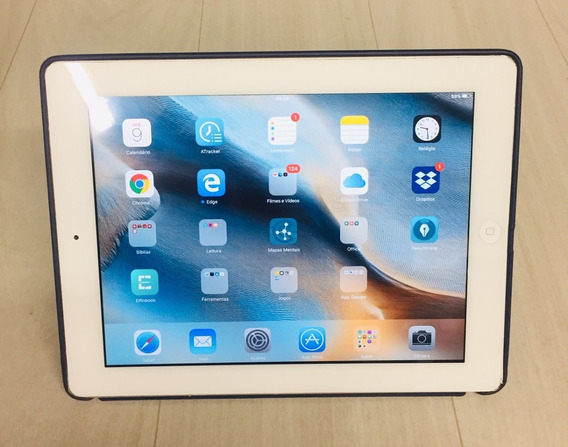 iPad 2 Apple Branco Wi-fi 16gb Ios 9.3.5 + Samart Cover