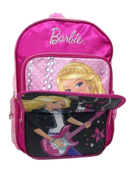 Mochila De Espalda Barbie Original 16 Frente Rebatible 16198