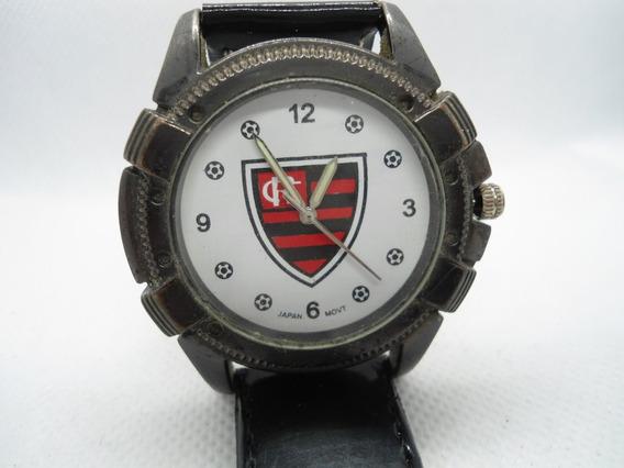 Relógio Flamengo Todo Em Aço Preto A Caixa
