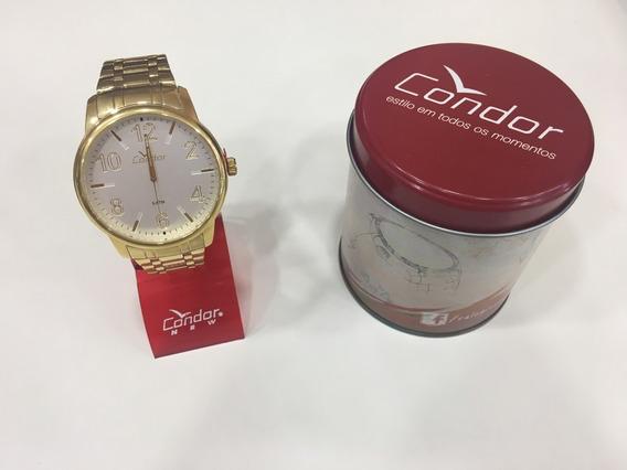 Relógio De Pulso Condor Co2035kqn Dourado Açoinox Unissex