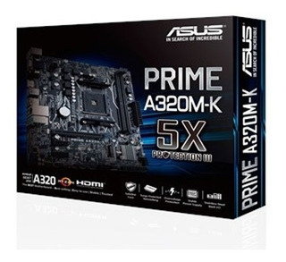 Placa Madre Asus A320m-k Amd Ryzen Am4 Ddr4 Hdmi Vga M2 A320