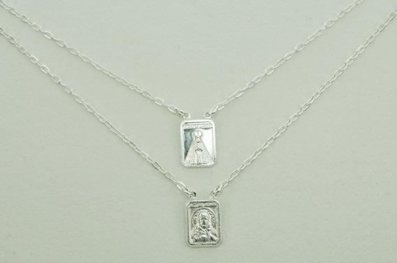 Escapulário N. S. Aparecida S. C.jesus Mini (m) Prata 925