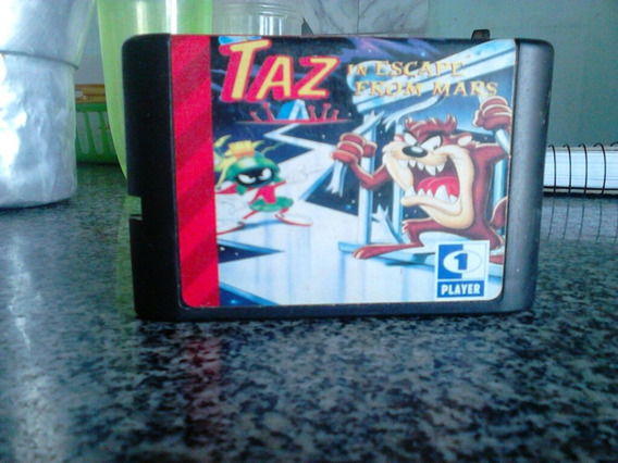 Taz In Escape From Mars Original Megadrive Carta Registrada