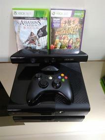 Xbox 360 Super Slim Travado + Kinect + Hd De 250gb + 2 Jogos