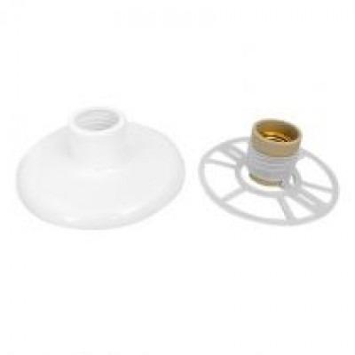 Plafon De Pvc Rosqueado Branco - 10 Unidades - Ps Plast