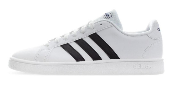 Tenis adidas Grand Court Base - Ee7904 - Blanco - Hombre
