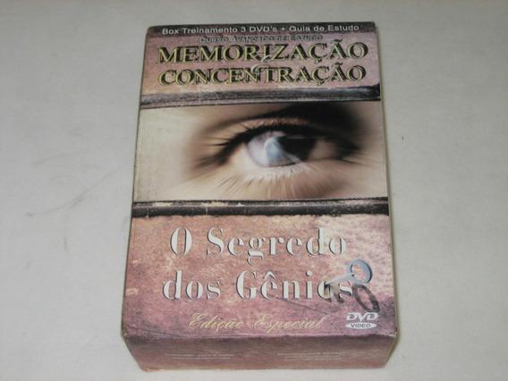 Box Livro+3 Dvds - O Segredo Dos Gênios - Renato Alves -2006