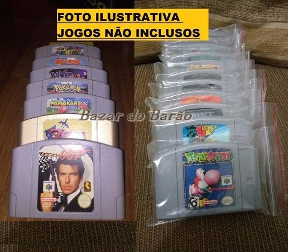 Saco Ziplock - Sob Medida - Para Fita Cartucho Nintendo 64