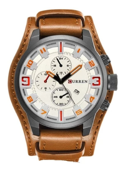 Relógio Curren 8225 Promoção Couro Masculino (c/n.f).