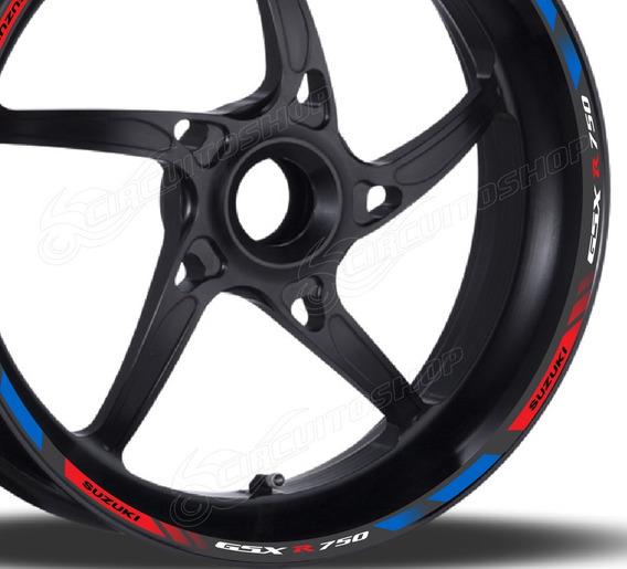 Friso Adesivo Refletivo D13 Roda Moto Suzuki Gsx R 750 Srad