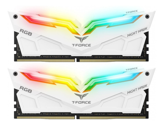 Memoria Team T-force Night Hawk Rgb 16gb (2x8) 3200mhz White
