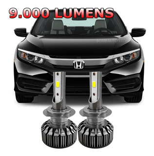 Kit Lampada Super Led New Civic 2016 2017 Farol Baixo 6000k
