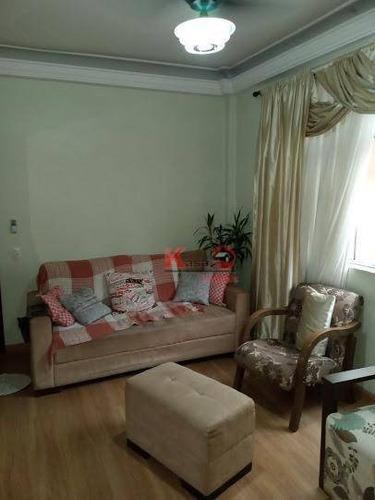 Apartamento Com 2 Dormitórios À Venda Por R$ 320.000,00 - Encruzilhada - Santos/sp - Ap10087