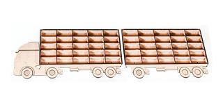Camión Con Acoplado Repisa Para 50 Autitos Hots Wheels