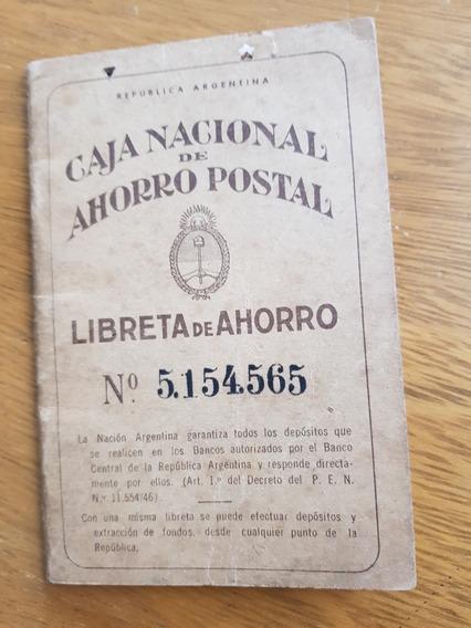 Libreta De La Caja Nacional De Ahorro Postal