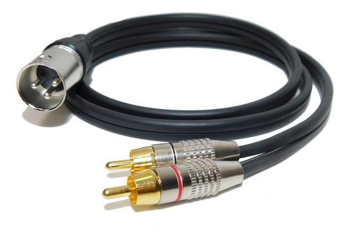 Imagen 1 de 2 de Cable Canon Xlr Macho A 2 Rca Macho Profesional X 6 M Envio