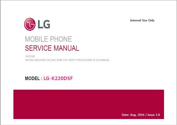 Esquema Eletrico Manual De Serviço Lg K220 (x Power)