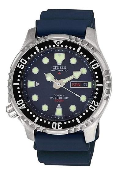 Reloj Citizen Buzo Azul Automatico Nuevo Ny0040-17le