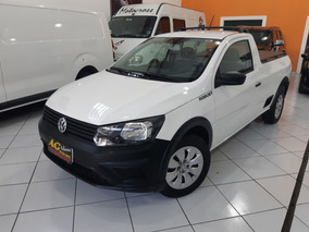 Vw Volks Saveiro Robust Cs 2017 Branca 1.6 Ar Dh Trio 44km
