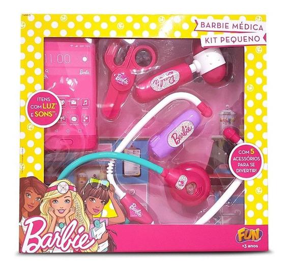 Kit Médica Pequeno Barbie Com Celular - Fun Divirta-se