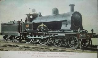 Fotografia Antigua Tren Locomotora Express Foto Postal