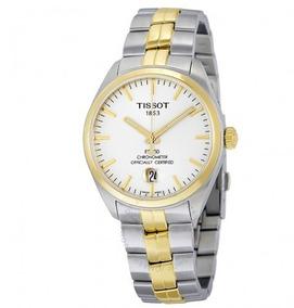 Relógio Tissot Masculino Pr100 Automático Cronômetro Dourado