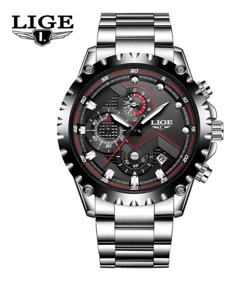Relógio Lige 9821 Masculino 100% Funcional
