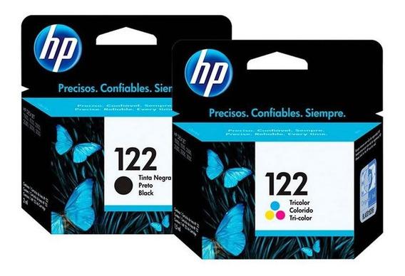 Cartucho Hp 122 Preto + Cartucho Hp 122 Colorido