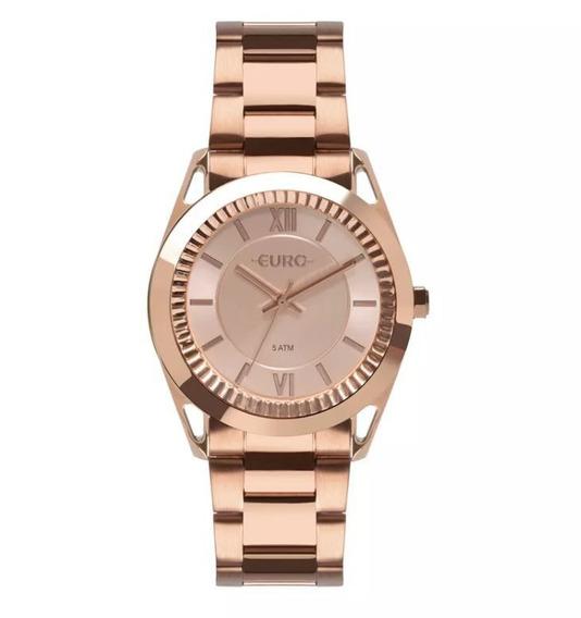 Relógio Euro Metal Frame Rosé Feminino Eu2035ypr/4j