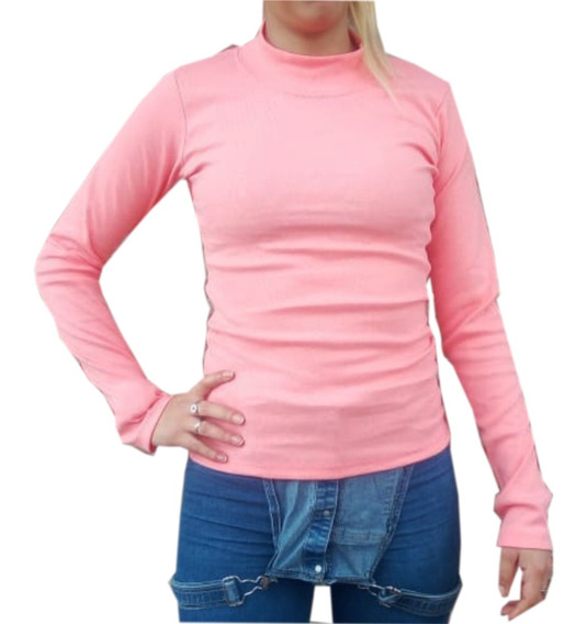 Camisetas Media Polera Mujer 100% Algodón Adaptables Gruesas