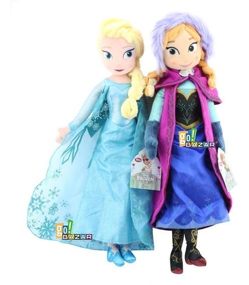 Bonecas Pelúcia Frozen Anna E Elsa Pronta Entrega 50cm