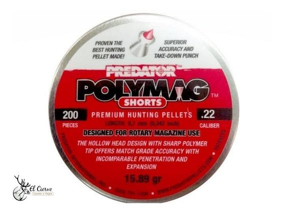Diabolos Predator Polymag Shorts Cal .22 15.75 Granos C/ 200