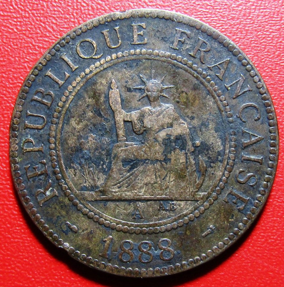 Indonesia Moneda 1 Centavo 1888 Bronce Vf+