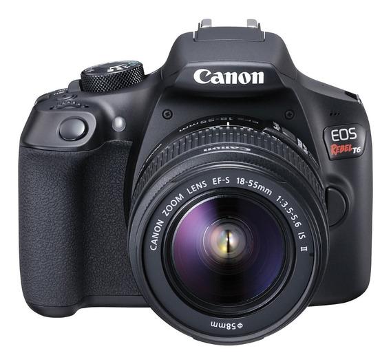 Câmera Canon Rebel T6 C/ Lente Ef-s 18-55mm Iii F / 3.5-5.6