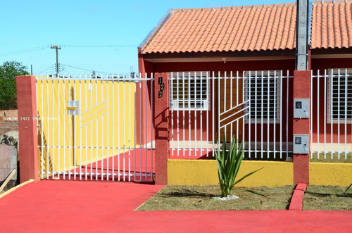 Imagem 1 de 13 de Casa Para Venda Em Ponta Grossa, Colônia Dona Luíza, 2 Dormitórios, 1 Banheiro, 2 Vagas - _1-1918050