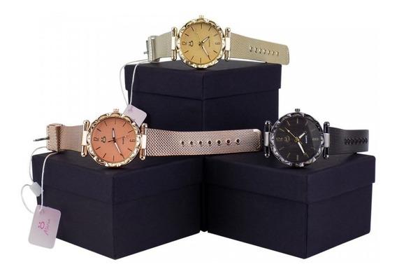3 Relógios Femininos Coleção Maria Com Garantia Nota Fiscal