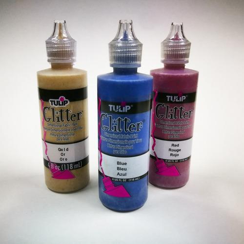 Pintura Glitter/ Bordeador Escarchado Para Tela