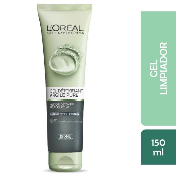 Gel Limpiador Facial Arcillas Puras Loreal , 130ml