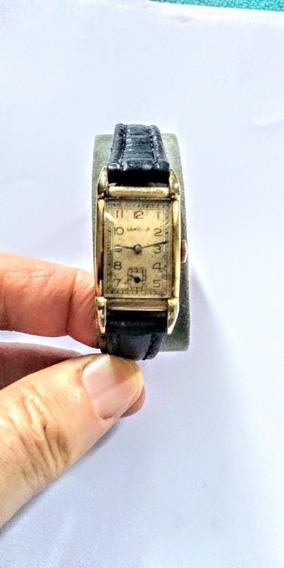 Lonville Antigo Relógio Suíço Feminino Pulso Semi Curvex.