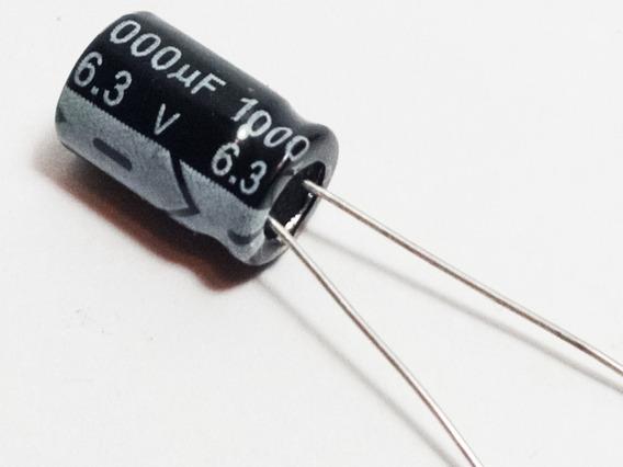 Capacitor Eletrolítico 1000uf X 6,3v 105° Kit Com 10 Peças