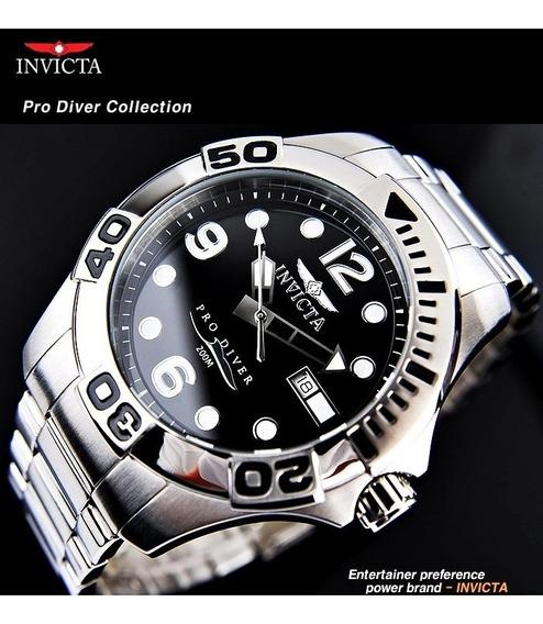 Relogio Invicta Original Masculino Pro Diver Luxo Novo Prata