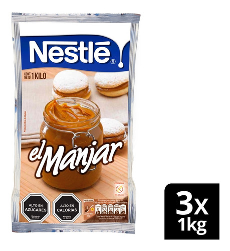 Manjar Nestlé® Bolsa 1kg X3 Unidades