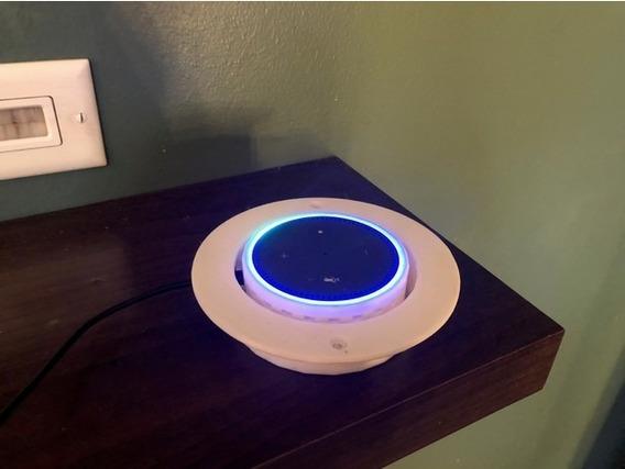 Suporte Apoio Stand De Teto Embutir Amazon Echo Dot 2