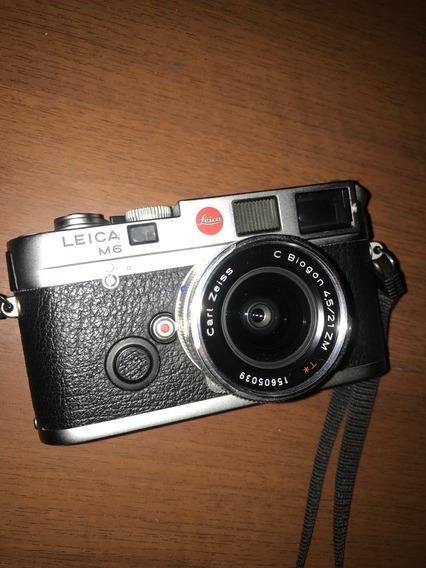 Câmera Leica M6 Classic + Zeiss Biogon 21mm F/4.5