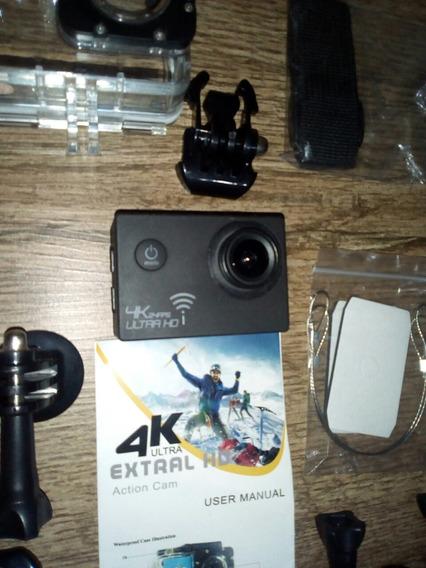 Câmera Ação Completa Com Todos Acessórios + 3 Baterias.