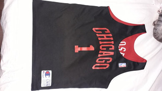 Camiseta Nba Chicago Bulls Original Reversible Niño 12/14
