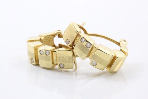 Brinco Ouro 18k Diamantes