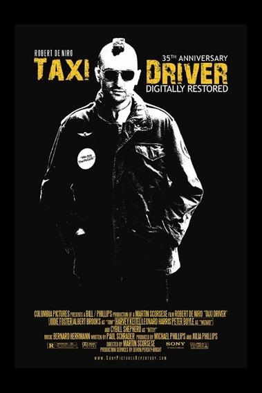 Carteles Antiguos Poster Gruesa 60x40cm Taxi Driver Fi-065